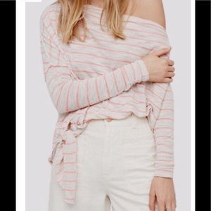 "FREE PEOPLE ""Love lane"" striped one shoulder"